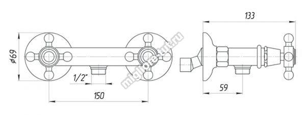 Смеситель для душа Migliore Revival ML.REV-446 цвет бронза
