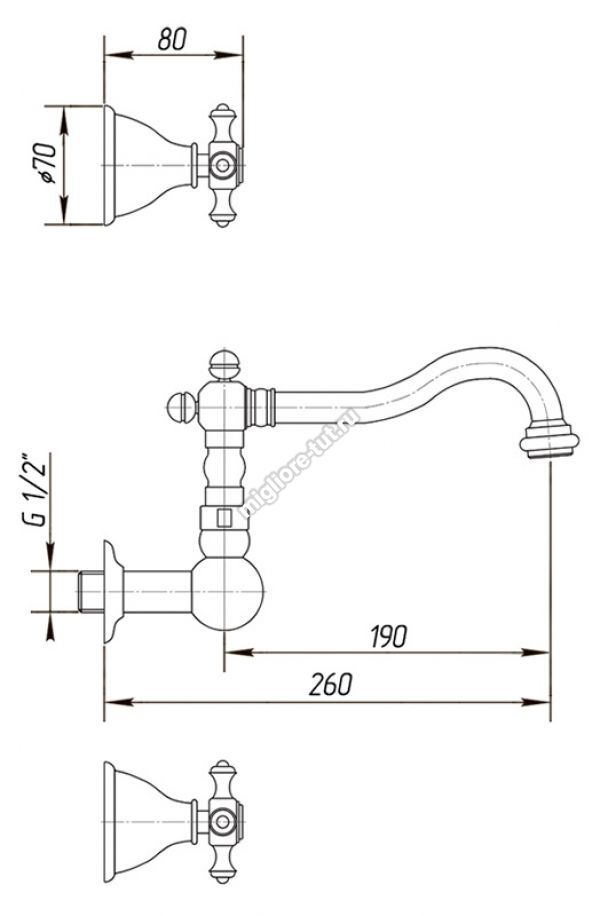 Смеситель для раковины Migliore Prestige ML.PRS-769 цвет бронза