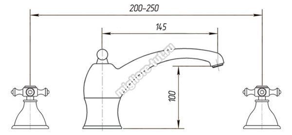 Смеситель для раковины Migliore Prestige ML.PRS-712P цвет бронза