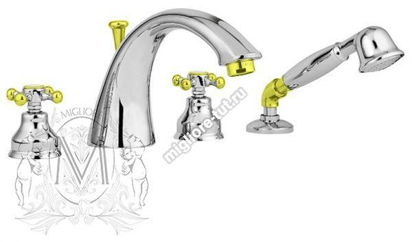 Смеситель Migliore Lady ML.LAD-981 CRDO на борт ванны