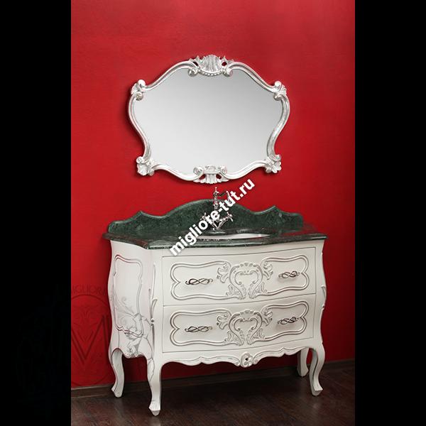 Мебель для ванной Migliore Vittoria bianco с декором argento