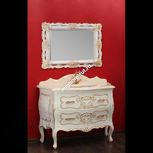 Мебель для ванной Migliore Vittoria bianco с декором dorato