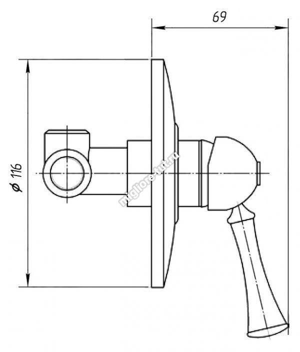 Смеситель для душа Migliore Dallas ML.DLS-6830CR цвет хром