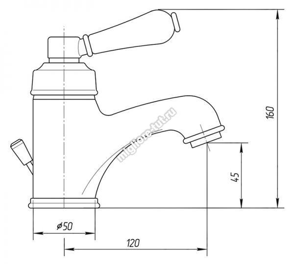 Смеситель для раковины Migliore Ermitage ML.ERM-7013.BIDO цвет золото