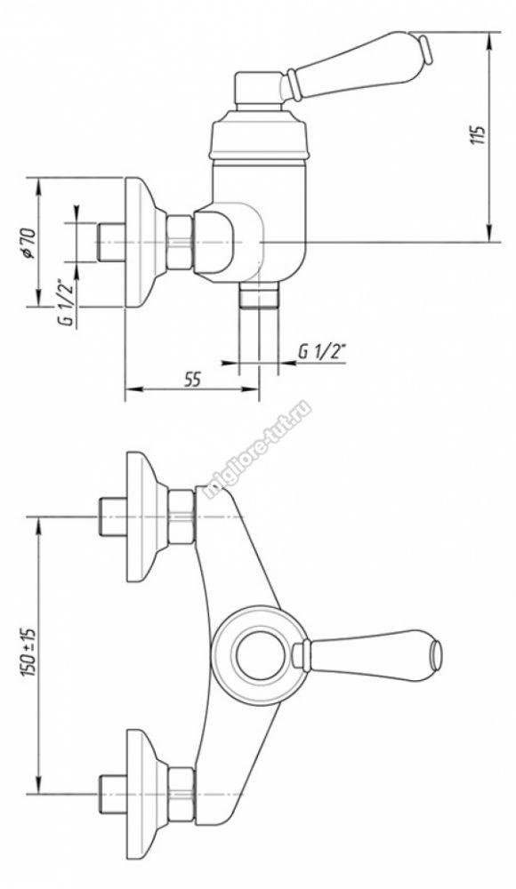 Смеситель для душа Migliore Ermitage ML.ERM-7038.BICR цвет хром