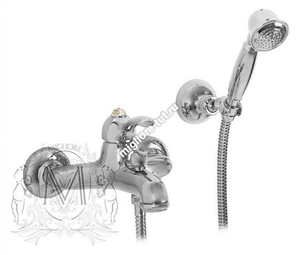 Смеситель Migliore Lem Swarovski ML.LEM-1902 CR для ванны