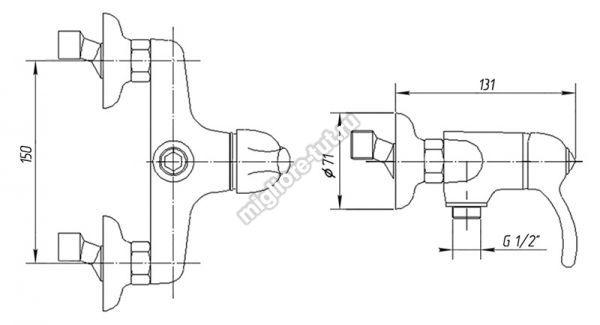 Смеситель для душа Migliore Lem Swarovski ML.LEM-1938CR цвет хром