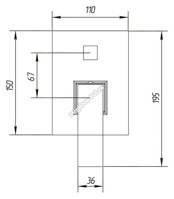Смеситель для душа  Migliore Kvant ML.KVT-2772 цвет хром