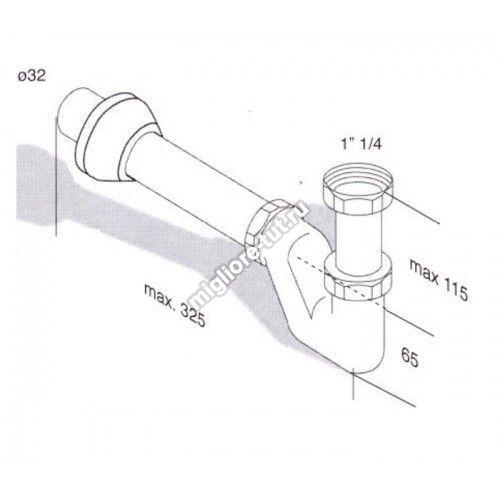 Сифон для раковины/биде Migliore Ricambi ML.RIC-10.100CR цвет хром