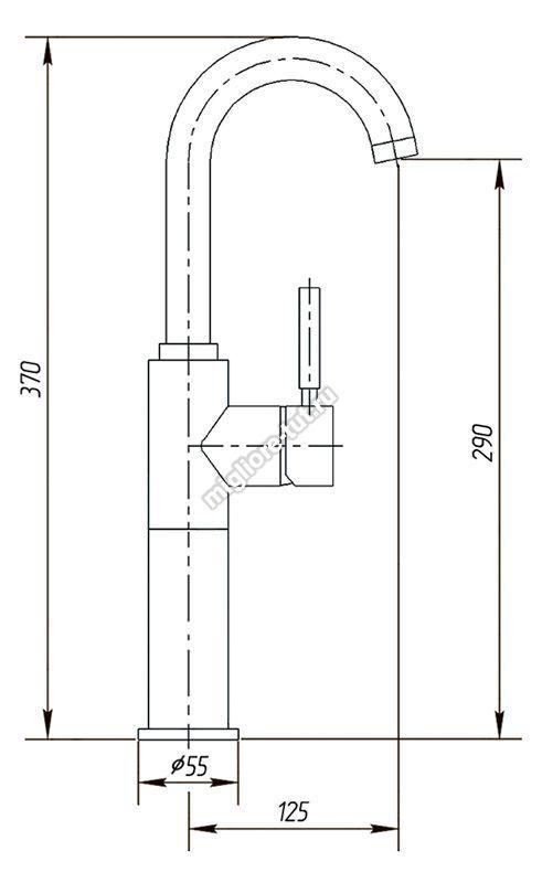 Смеситель для раковины Migliore Fortis ML.FRT-5213L цвет хром