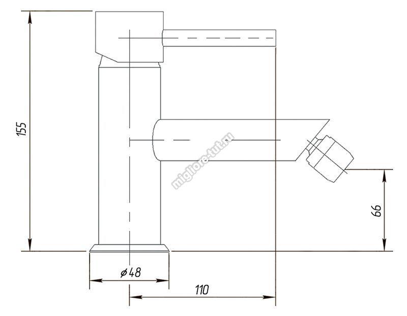 Смеситель для биде Migliore Fortis ML.FRT-5123 цвет хром