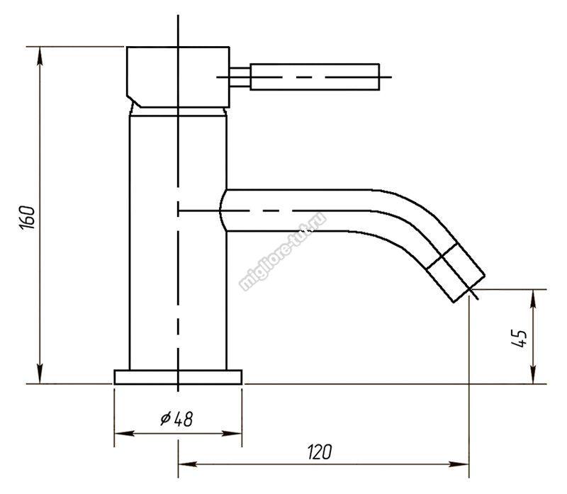 Смеситель для раковины Migliore Fortis ML.FRT-5313 цвет хром