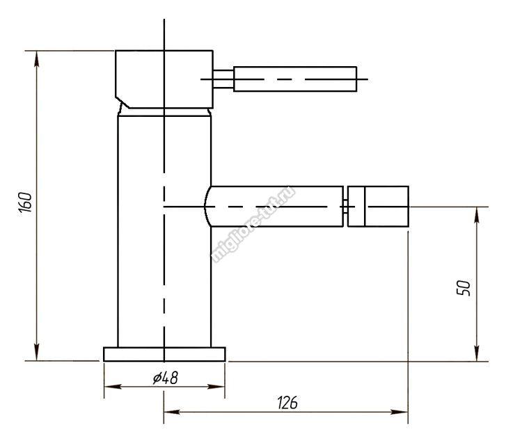 Смеситель для биде Migliore Fortis ML.FRT-5323 цвет хром