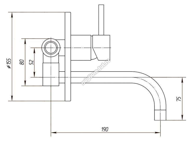 Смеситель для раковины Migliore Fortis ML.FRT-5246 цвет хром