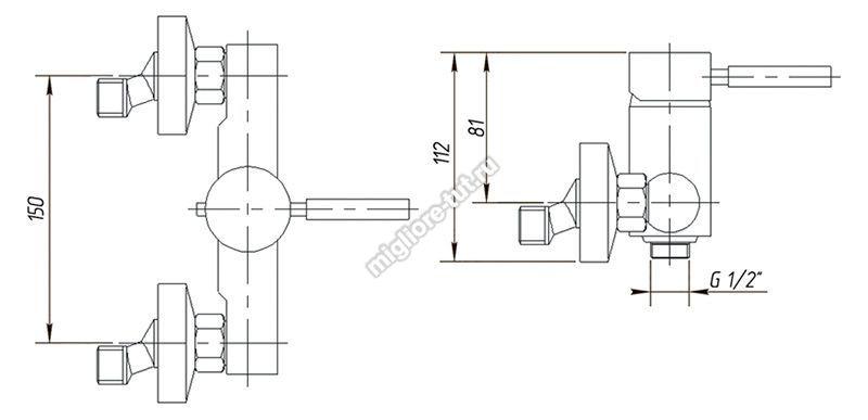 Смеситель для душа Migliore Fortis ML.FRT-5238 цвет хром