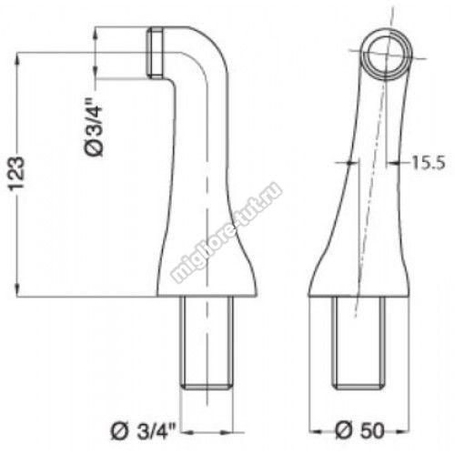 Полуколонны Migliore Ricambi ML.RIC-20.279 цвет хром