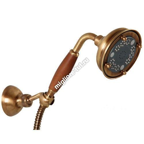 Ручной душ Migliore Ricambi ML.RIC-33.112 BR трехпозиционный, деревянная ручка