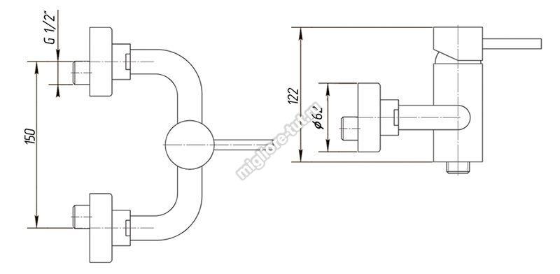 Смеситель для душа Migliore Fortis ML.FRT-5338 цвет хром
