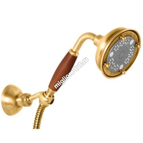 Ручной душ Migliore Ricambi ML.RIC-33.112 DO трехпозиционный, деревянная ручка