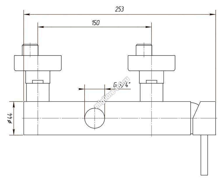Смеситель  для душевой колонны Migliore Fortis ML.FRT-5436 цвет хром