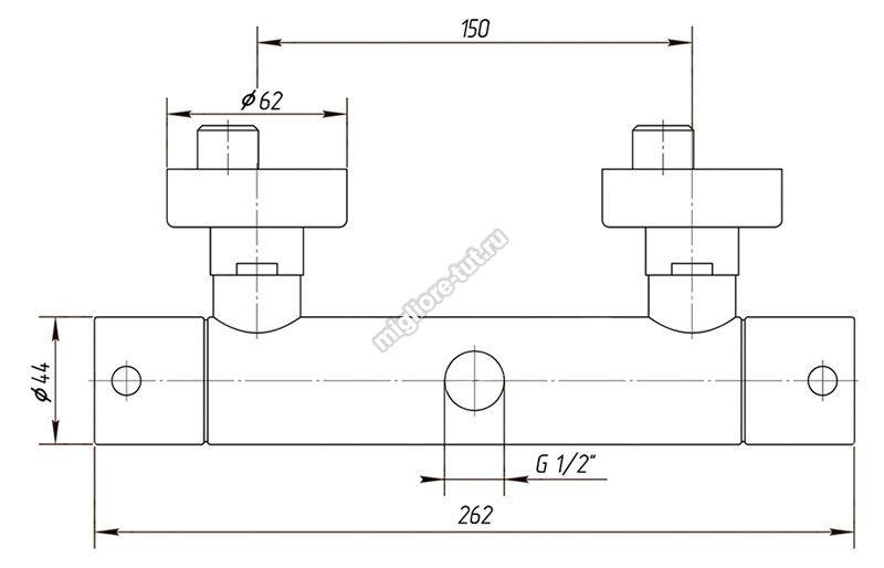 Cмеситель для душа термостатический Migliore Fortis ML.FRT-5478 цвет хром