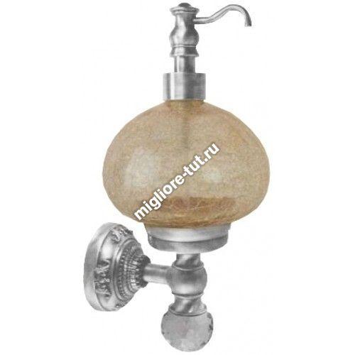 Дозатор жидкого мыла настенный Migliore Cristalia ML.CRS-60.237 CR стекло, SWAROVSKI