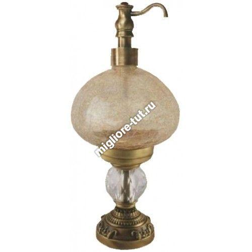 Дозатор жидкого мыла настольный Migliore Cristalia ML.CRS-60.247 BR стекло, SWAROVSKI