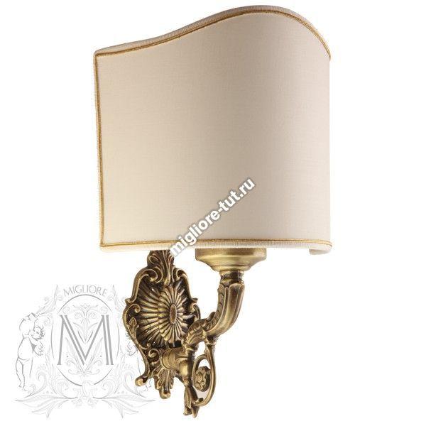 Светильник настенный Migliore Elisabetta ML.ELB-60.130 Cr ткань