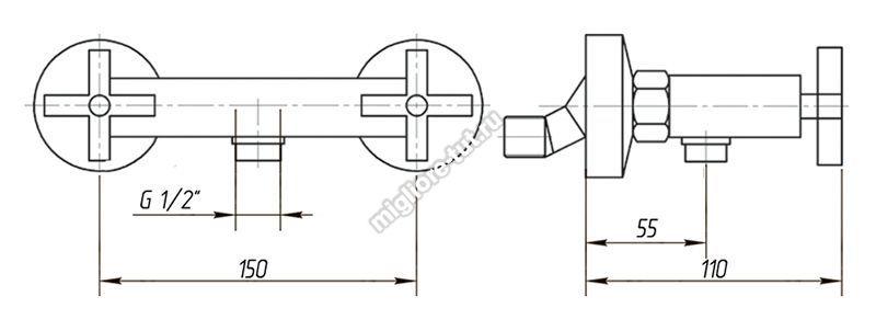 Смеситель для душа Migliore Naxos ML.NAX-7646 цвет хром