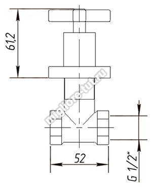 Кран запорный Migliore Naxos ML.NAX-7660 цвет хром