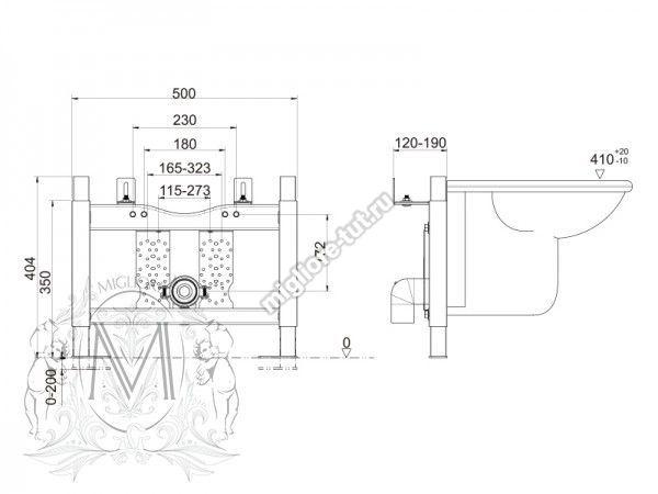 Система инсталляции для подвесного биде Migliore ML.BTR-27.670