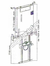 Система инсталляции для подвесного унитаза без кнопки Migliore Impero ML.BTR-27.660