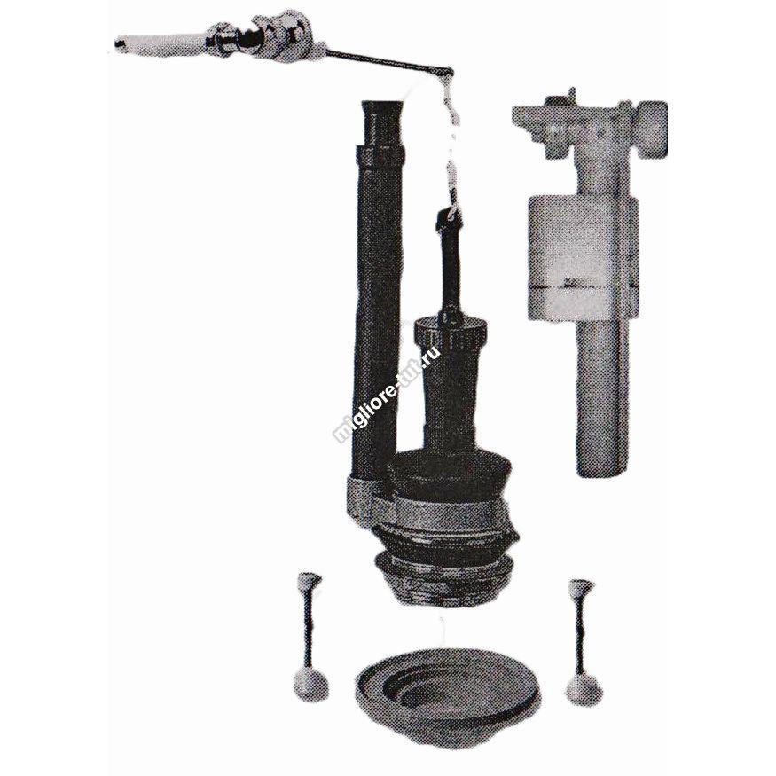 Комплект механизмов для моноблока с кнопкой Migliore Ricambi ML.MEC-29.148 BR