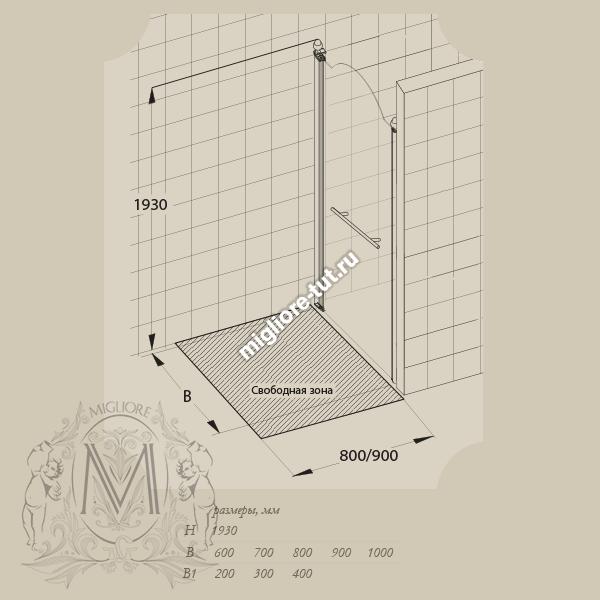 Душевая дверь Migliore Diadema 90 см