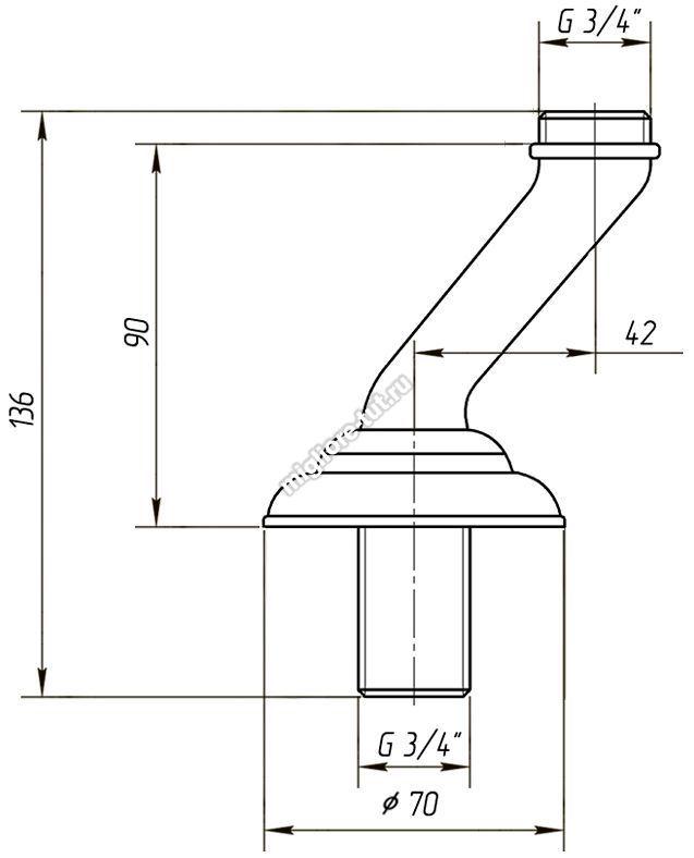 Полуколонны врезные Migliore Cristalia Swarovski ML.RIC-3705 цвет золото