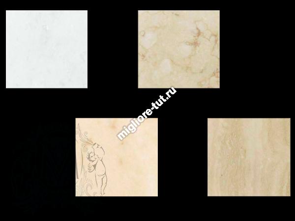 Столешница из мрамора Migliore Alicante PS.ALC-TM105BC цвет Bianco Cristallino