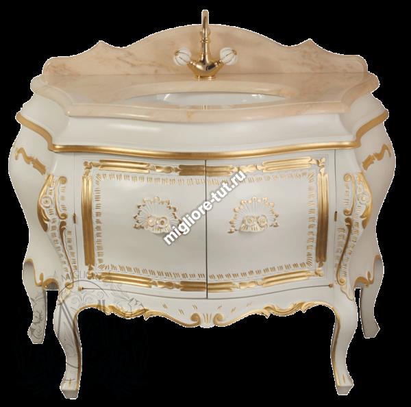 Комплект мебели Migliore Juliana - цвет Bianco с декором Dorato