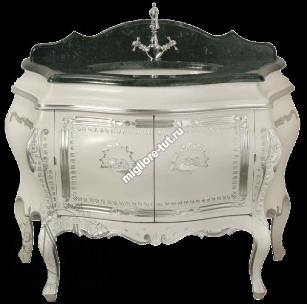 Комплект мебели Migliore Juliana - цвет Bianco с декором Argento