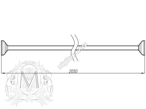 Карниз прямой для шторки на ванну Migliore ML.BTD-21.205 BR