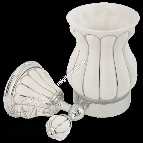 Стакан настенный керамика Migliore Olivia ML.OLV-60.602 BP.CR