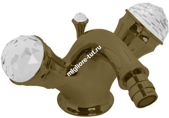 Смеситель для биде Migliore Korona Swarovski ML.KRN-4744 цвет бронза