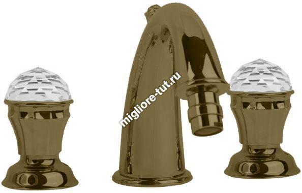 Смеситель для биде Migliore Korona Swarovski ML.KRN-4725 цвет бронза
