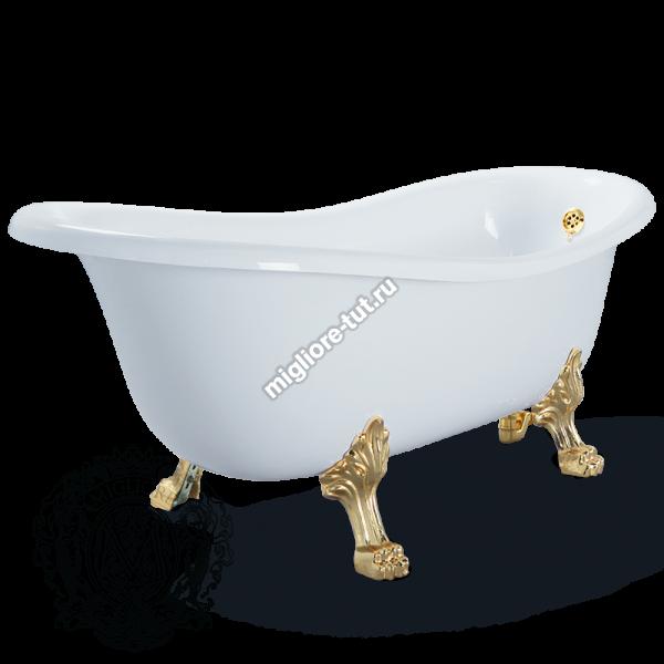 Ванна MIGLIORE BELLA ML.BLL-40.401 Br - ножки бронза