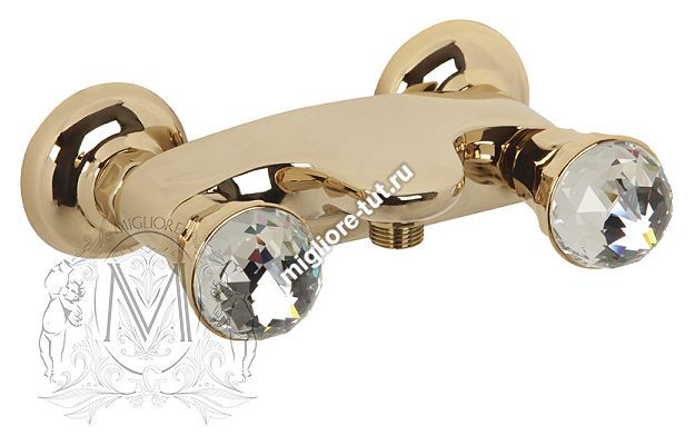 Смеситель для душа Migliore Korona Swarovski ML.KRN-4746 цвет золото