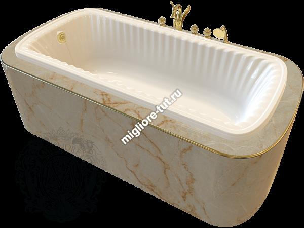 Ванна в подиум MIGLIORE Olivia podium ML.OLV-40.104 Cr - фурнитура хром