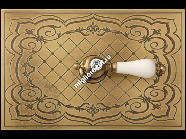 Декоративная панель с ручкой Ottone Classic «Сетка» Migliore Expert DO металл