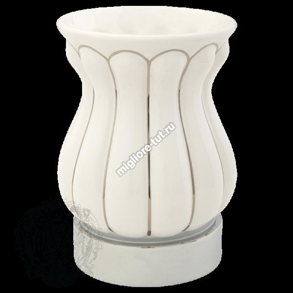 Стакан настольный керамика Migliore Olivia ML.OLV-60.612 BP.CR