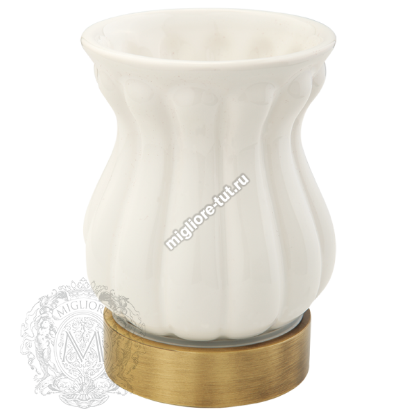 Стакан настольный керамика Migliore Olivia ML.OLV-60.612 BI.BR