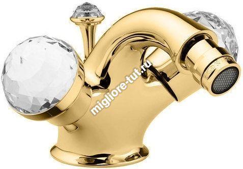 Смеситель для биде Migliore Axo Swarovski ML.AXO-644F цвет золото