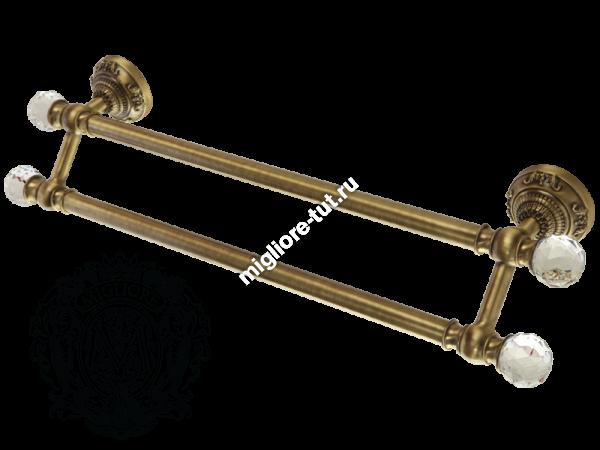 Полотенцедержатель двойной Migliore Cristalia ML.CRS-60.223 цвет бронза , SWAROVSKI